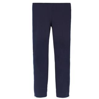 Cos Zip-Hem Navy Cigarette Trousers