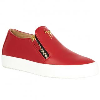 Giuseppe Zanotti logo zip-side slip-on skate trainers