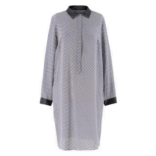 Weekend Max Mara Grey Checked Oversized Dress