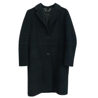 Belstaff black single-breasted wool coat