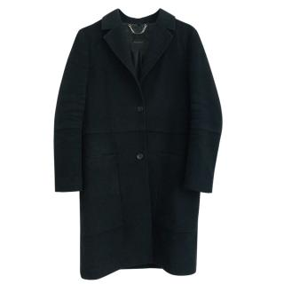 Belstaff black single-breasted wool coat