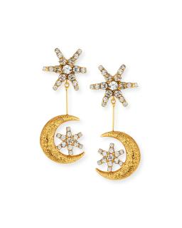 Jennifer Behr Atlas Star & Moon Earrings