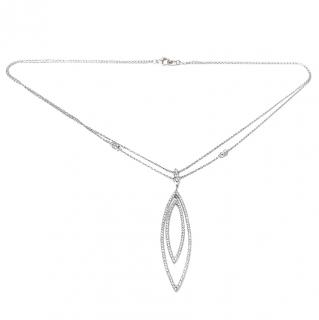 Diamond-Embellished 18ct Gold Pendant Necklace