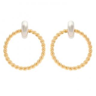 Balenciaga Gold-Tone Large Twist Hoops