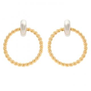 Balenciaga Gold-Tone Large Twist Hoops