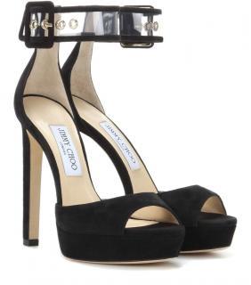 Jimmy Choo Mayner Suede Platform Sandals