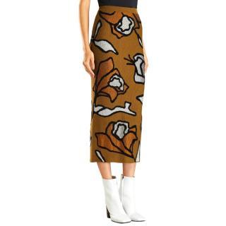 Christian Wijnants Kordi Floral-Jacquard Knit Pencil Skirt