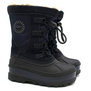 UGG Boys Navy Snow Boots