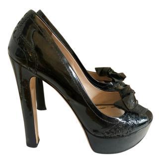 0d684bae4600 Miu Miu Peep-Toe Patent Heels