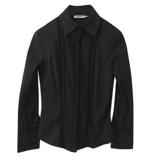 Moschino black cotton-blend shirt
