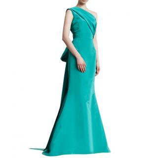 Oscar de la Renta one-shoulder silk gown