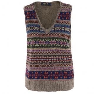 Polo Ralph Lauren Fair Isle-Knit Wool Sweater Vest