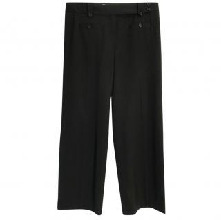 Michael Kors virgin wool black straight-leg hig-rise trousers