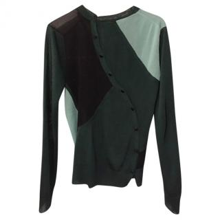 Proenza Schouler asymmetric-button silk blouse