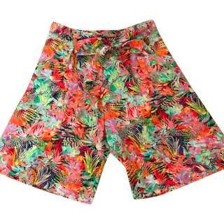 Saloni jungle silk-crepe shorts