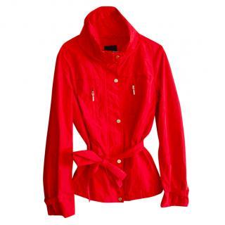 Max Mara Short Red Trenchcoat
