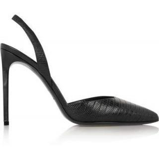 Saint Laurent Lizard Effect Slingback Sandals