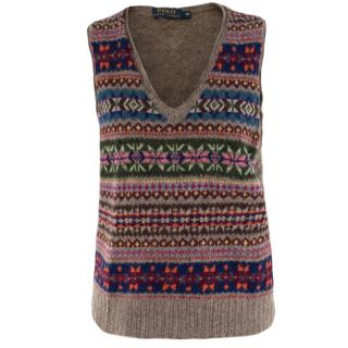 Polo Ralph Lauren Fair Isle-Knit Wool Sweater Vest