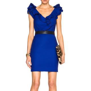Lanvin Ruffle-Sleeve Mini Dress