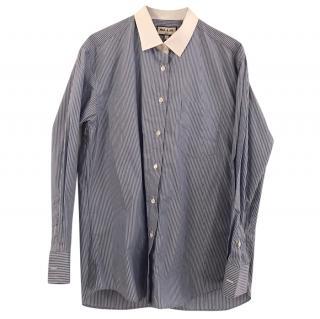 Paul & Joe blue and white striped blouse