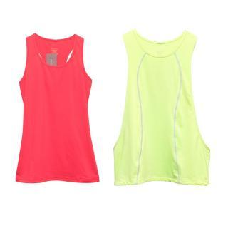 Sweaty Betty Green & Pink Set-of-Two Sports Tank Top