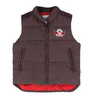 Mini A Ture boys' thermal brown gilet
