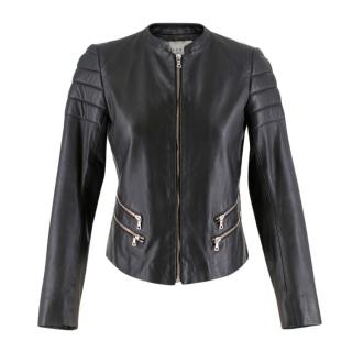 Sandro Black Leather Jacket