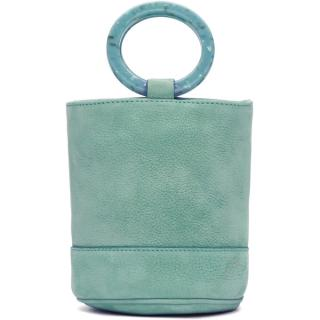 Simon Miller Bonsai 15 Green Nubuck Bucket Bag