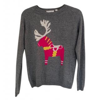 Chinti and Parker Reindeer Cashmere Jumper