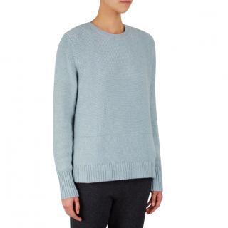 Le Kasha baby-blue cashmere sweater
