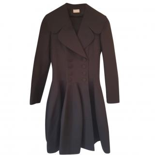 Alaia black cotton coat