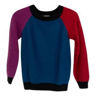 Brora Colour-Block Cashmere Sweater