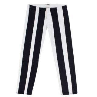Acne Studios Black and white striped jeans