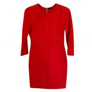 Joseph Long-Sleeved Red Dress