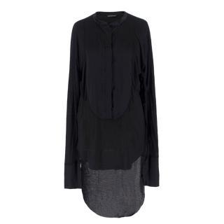 Thomas Wylde Black Step-Hem Shirt