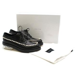 Simone Rocha faux pearl-embellished leather brogues