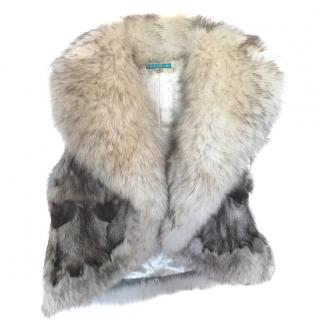 Jocelyn Shawl-Lapel Fox Fur Gilet