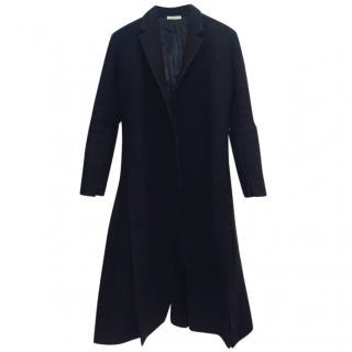 Celine Wool & Leather-Trimmed Coat