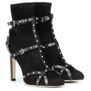 Jimmy Choo Brianna Leather-Trimmed Suede Ankle Boots