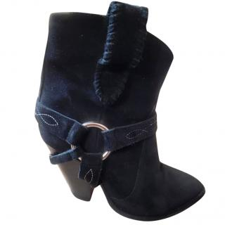 Isabel Marant Etoile suede western-style boots