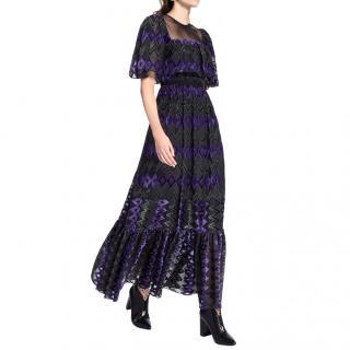 Three Floor Bronte Sisters Velvet-Devor� Dress