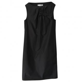 Max Mara silk & cotton-blend sleeveless black dress