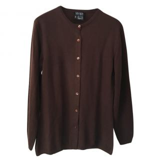 Escada Sport brown wool & cashmere-blend cardigan