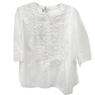 Isabel Marant Etoile White-Cotton Embroidered Blouse