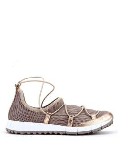 Jimmy Choo Andrea leather-trimmed mesh trainers
