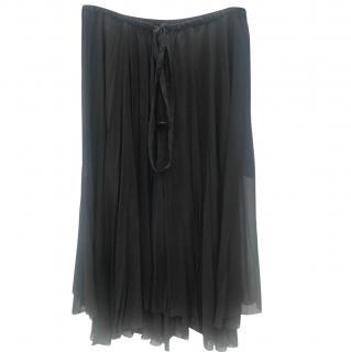 Isabel Marant Etoile Black Chiffon Wrap Skirt