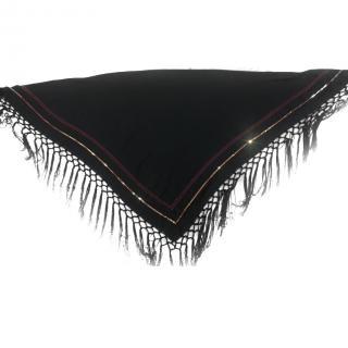 Altuzarra Black Tassel-Trimmed Embellished Scarf