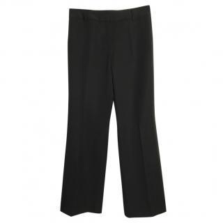 J Crew high-rise wide-leg wool trousers
