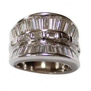Bespoke Diamond Art Deco Style 18ct White-Gold Ring