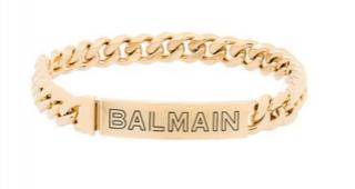Balmain Engraved Gold Choker